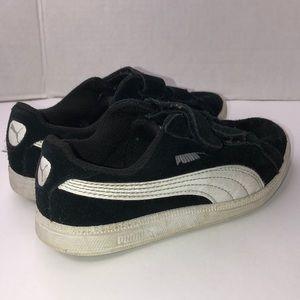 Kids Puma suede black sneakers size 12C